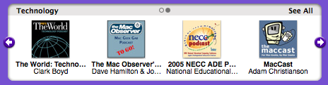 MacCast on iTunes main page