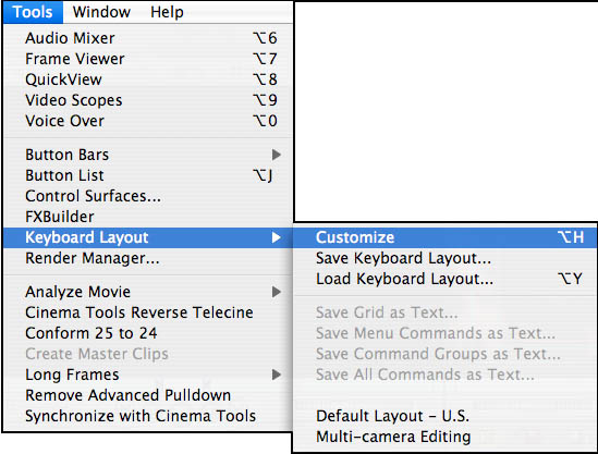 Selecting the Keyboard Layout Tool