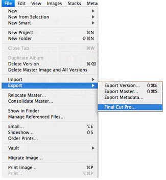 Select Export from the File Menu.