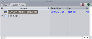 New FCP Project from XML file.